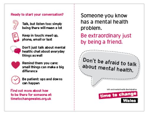 Time To Change Wales Talking About Their Mental Health