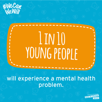 1 in 10 young people will experience a mental health problem